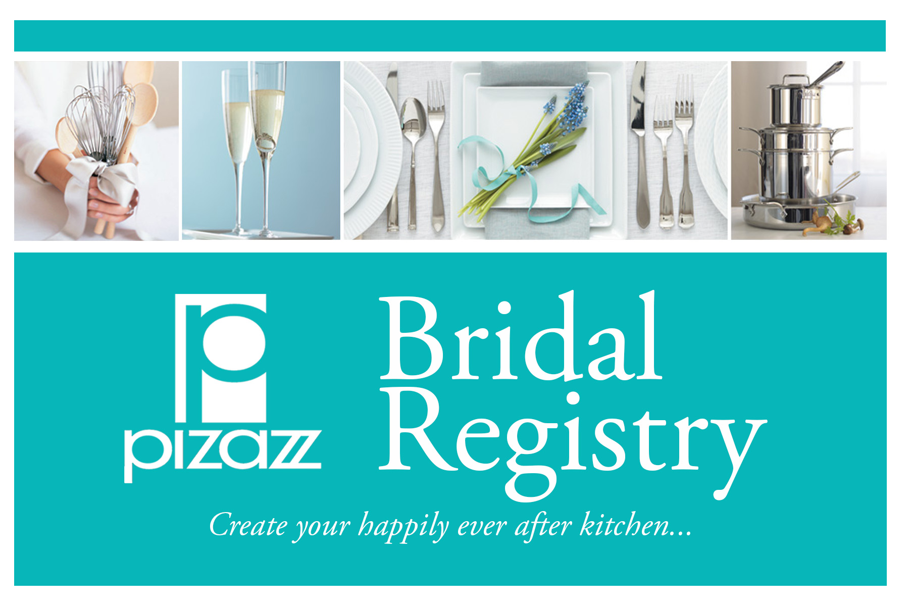 pizazz bridal registry front strip photos - Registry