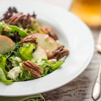 Apple Salad with Candied Pecans