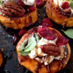 Sweet Potato Rounds and Goat Cheese Appetizer