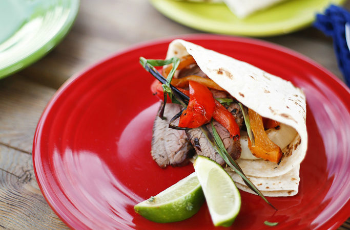 Coffee Rubbed Tri-Tip Fajitas